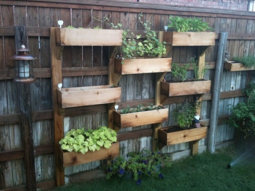 Pallet-wood Vertical Garden.