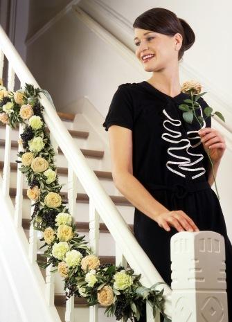 Flower-garland - Guirlandes - with Roses