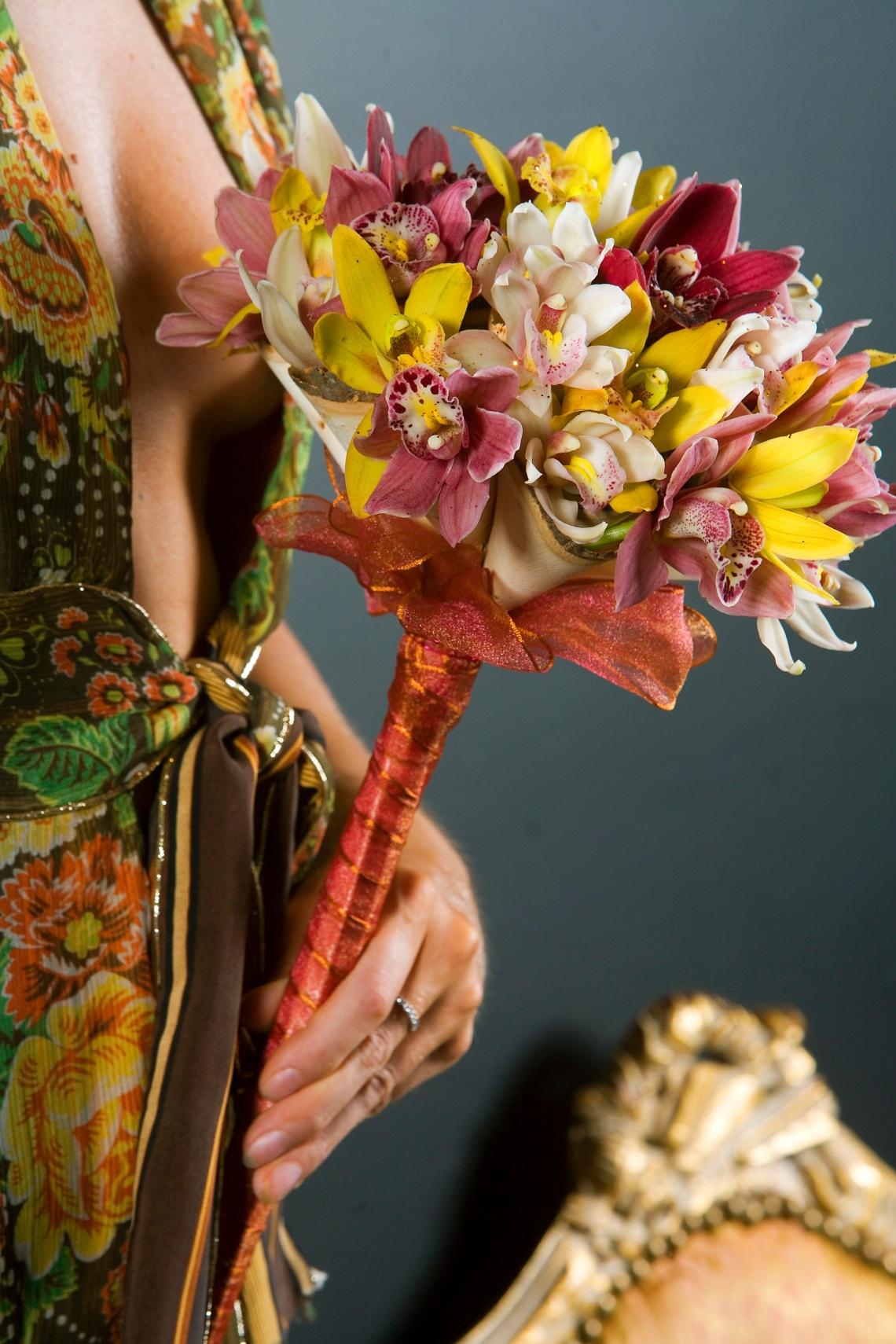 A Cymbidium-orchid mix