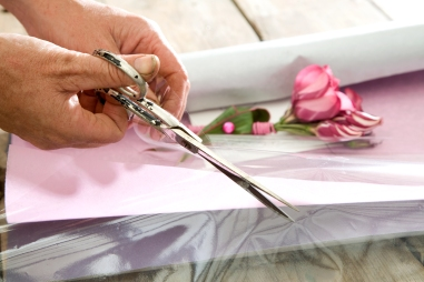 For gift-wrapping use colored paper and cellophane for great luxurious look/
