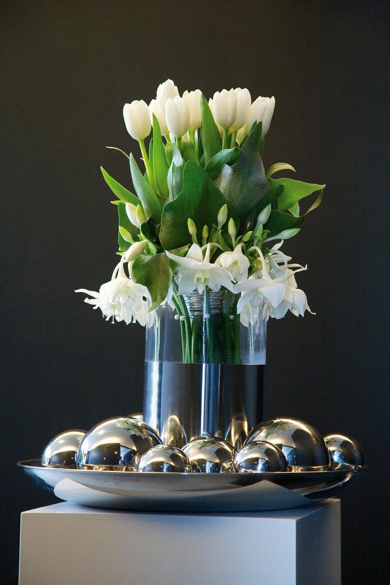 Tulips with Eucharis.