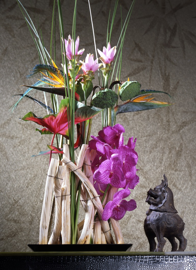 Vanda-orchid and Curcuma