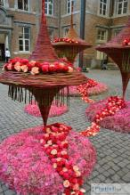 Floral Object during a contest in Alden-Biesen,Belgium.