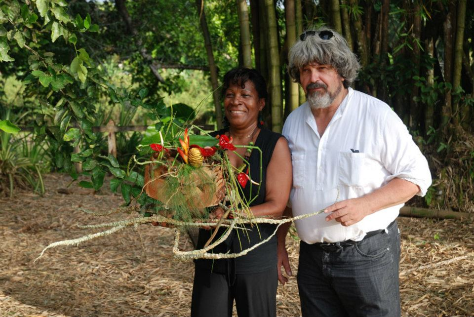 Gregor Lersch with one of his students in Guadeloupe.