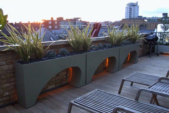 Beau Roof Terrace Garden Design Amir Schlezinger 2