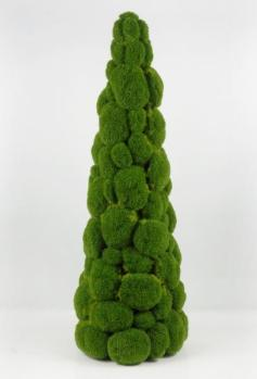 Green 'Moss' christmas tree, TIP; work with electric christmas-lights between the moss.