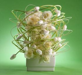 "Great 'French"" tulips arrangement."