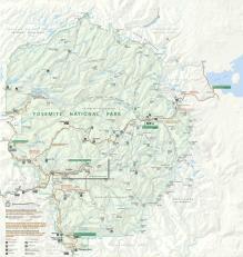 Yosemite National Park Map