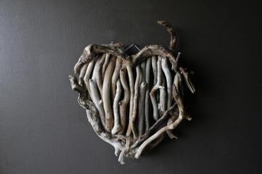Drift-wood Heart-shape